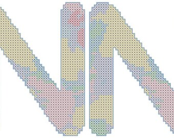 Watercolor Name Cross Stitch Pattern/Name Cross Stitch/Cross Stitch Pattern Name/Counted Cross Stitch/Name Sign Xstitch/Modern Cross Stitch