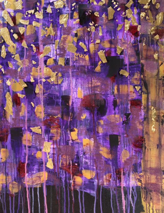 Iris beautiful abstract original acrylic canvas for Pretty abstract paintings