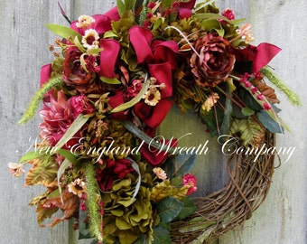 Fall Wreath, Autumn Wreath, Designer Fall Wreath, Fall Victorian Wreath, Elegant Fall Wreath, Fall Floral Wreath, Harvest Wreath