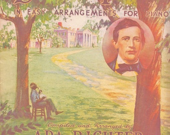 Songs of Stephen Foster Arrangements for Piano Songbook