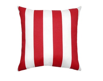 Red White Pillow Covers, Pillow cover, Decorative Pillow, throw pillow, accent pillow