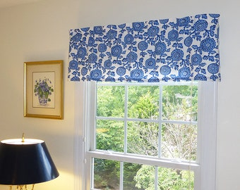 Made to Order Window Curtains, Window Valance & Window Treatments - Mums  Fabric Print - 4 Color Options