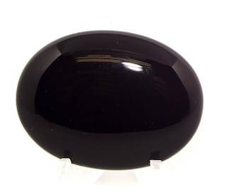 Black Onyx 40 x 30 Cabochon