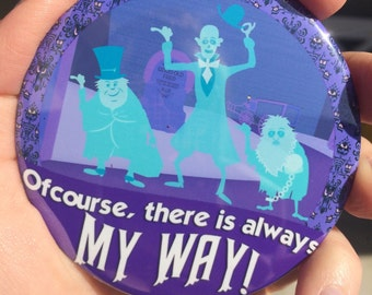 "Disney Haunted Mansion Hitchhiking Ghosts 3"" Button"