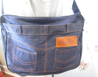 Vintage Denim Jeans Purse