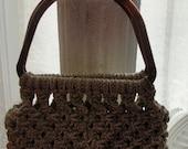 Macrame purse, gypsy, shabby chic, cottage chic, boho, bohemian