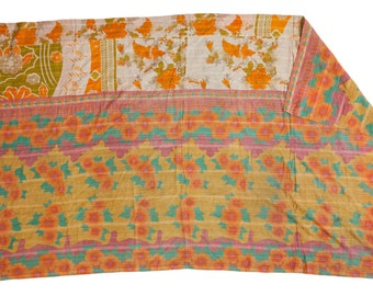 Vintage Indian Kantha Quilt
