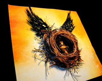 SALE- Harry Potter and the Cursed Child Illustration Sculpture - 10x10x3 Shadowbox Framed - Free Shipping
