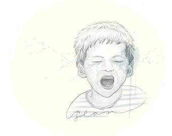custom illustration (single person)