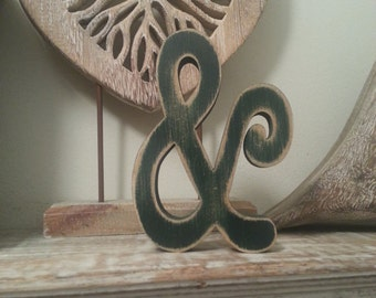 Hand-painted Wooden Letter & - Freestanding - Typewriter Font - Various sizes, finishes and colours, Ampersand