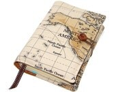Travel Journal Book Cover of  World Map North America, other continents also available, UK Seller