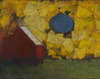 Coming Home Quiet — Original Oil Painting, Landscape Painting, Abstract Landscape Oil Painting on Canvas, Fine Art, 9 x 12