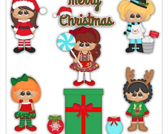 Christmas Sweet Cuties 1 Clipart (Digital Download)