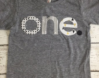 one simple heathered Birthday Tee black and white, grey, gold, Organic Shirt Blend hipster boy or girl can be created for any birthday