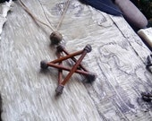 Willow 5 pointed star Pendant Necklace - natural Star pagan mystical willow witchcraft jewellery pendants natural handmade