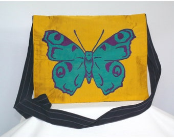 Teal Butterfly Satchel