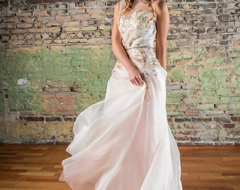 Catherine Embroidered Organza Wedding Dress