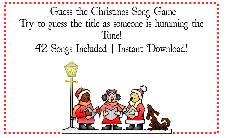Agile image inside guess the christmas song printable