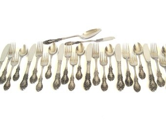 Stainless Flatware Set Springtime Japan Vintage 1960s 1970s, Service for 6 (4-pc place settings)
