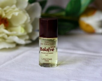 "Vintage 1970s Perfume for man ""Balafre Brun"" by Lancome Eau de Toilette 7.5ml Splash 100% Full Mini Travel size Bottle Collectible"
