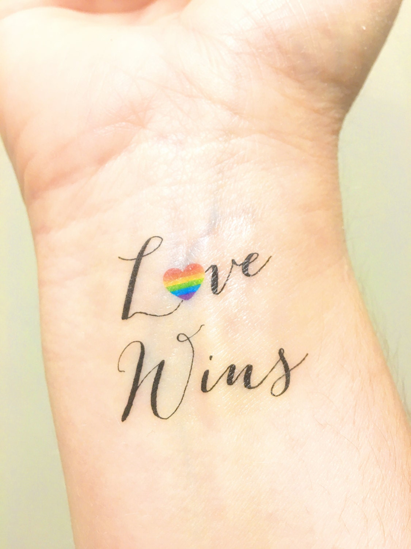 lesbian wedding lesbian wedding bands Temporary Tattoo Love Wins Love is Love Gay Wedding Gift Gay Marriage LGBT Gay Couples Lesbian Wedding Gay Rights