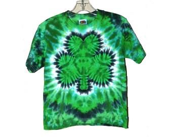 Toddler Shamrock Tie-Dye Shirt, Irish St. Patrick's Day Colors, Eco-friendly Dyeing