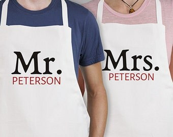 Personalized Mr. and Mrs. Apron -gfy898257