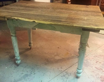 Farm Table Farmhouse Up cucled Barnwood Table top Made from 1829 wood door