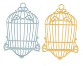 2 Gold or Silver Birdcage die cut Embellishments
