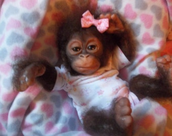 Custom made to order Reborn chimpanzee silicone ape monkey doll chimp gorilla baby