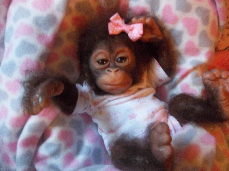 Custom Made To Order Reborn Chimpanzee Silicone Ape Monkey