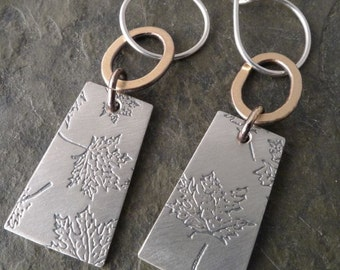 Voila Earrings  ~ Maple Leaf