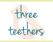 three organic wood teethers - handcrafted, eco-friendly teething toys for new baby boy and girl, ideal first toys
