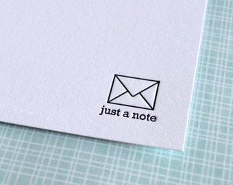just a note mini notecard :  letterpress