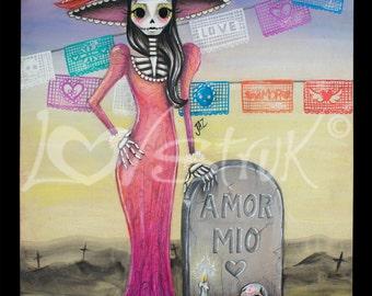 Amor Mio Catrina Art Print