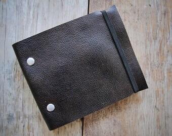 Leather Sketchbook - Repurposed Dark Brown - Medium