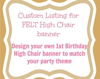Custom Birthday banner - Birthday Banner - Party Decorations - First Birthday Party Decor - girl birthday banner- boy birthday banner
