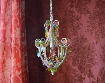 Petite Chandelier Lighting, Woodland Fairy, One of a Kind
