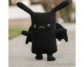 Bat Bunny stuffed animal, Kawaii bunny bat plush, Cute soft toy doll, Handmade boy girl kids gift, Rabbit lapin plushie, BatBun Halloween