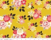 Vintage Daydream - Vintage Main Gold Floral by Design by Dani from Riley Blake Designs