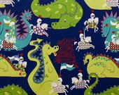 Knight Meets Dragon - Navy Blue from Alexander Henry