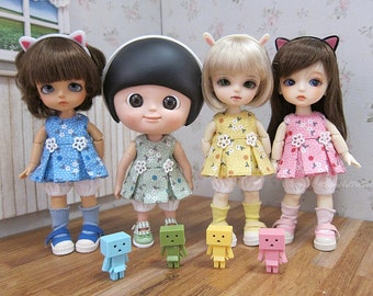 Lati yellow outfit , Mui chan outfit : Summer floral dress (Green)