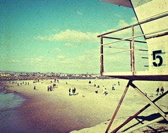 san diego art // vintage beach photography // summer art print - Five, original photograph art