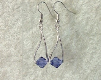 Swarovski Crystal Earrings - Tanzanite