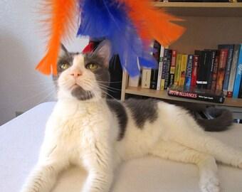 Cat Toy, Teaser, Chestnut Handle, Custom Colors