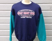 Early 1990's two-tone Great Smoky Mountains sweatshirt, fits like a large