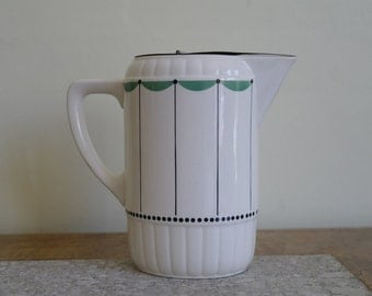 Vintage Self Closing China Jug, Counter Weight China Jug - Jug, Pitcher.