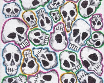 Neon Skull Collage