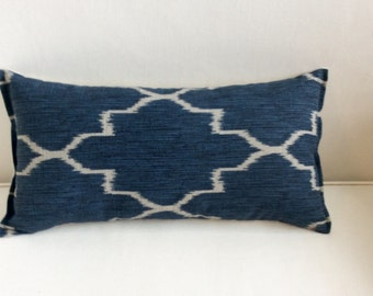 Blue Gray decorative accent toss throw lumbar  10x20