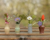 Little Buddies Bud Vases - Shino 4 Pack